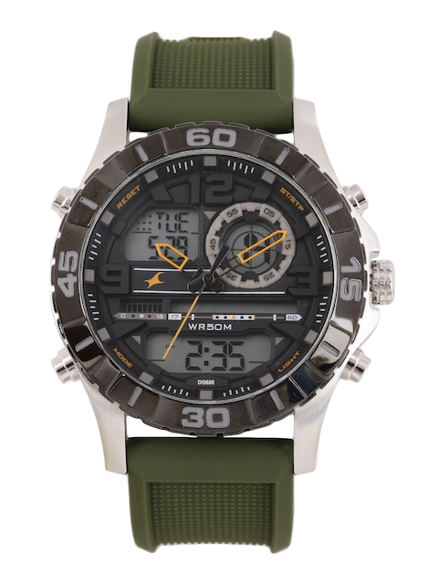 Fastrack Men Black Analogue and Digital Watch NK38035SP01_OR