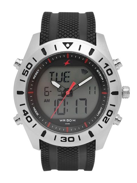 Fastrack Men Black Multifunction Analogue & Digital Watch NK38034SP03_OR