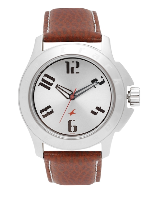 Fastrack Men Silver-Toned Analogue Watch NK3075SL03_OR
