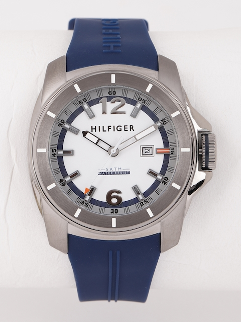 Tommy Hilfiger Men White & Navy Blue Analogue Watch NTH1791113