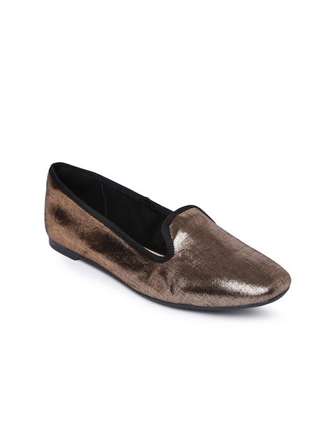 Clarks Women Copper-Toned Loafers