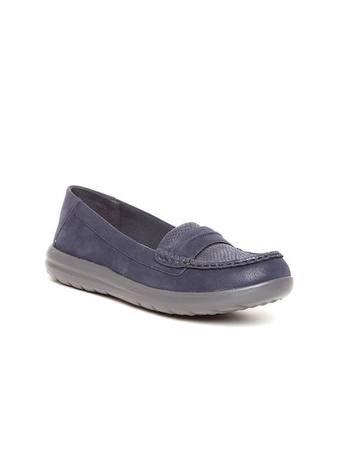 Clarks Women Purple Loafers