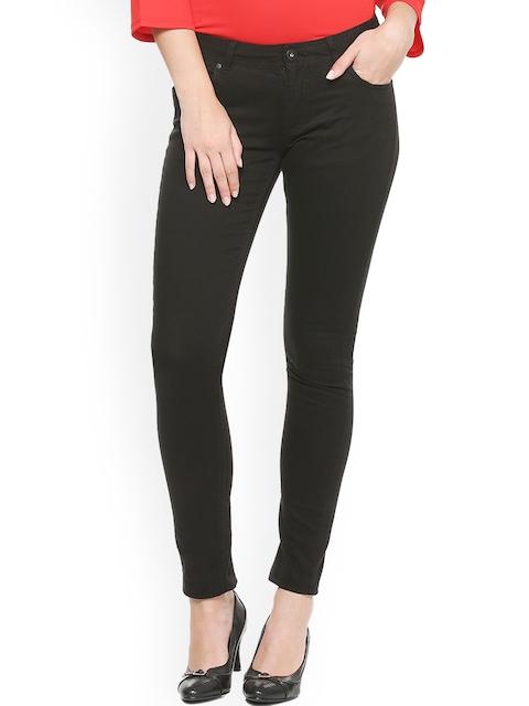 Van Heusen Woman Black Regular Fit Mid-Rise Clean Look Jeans