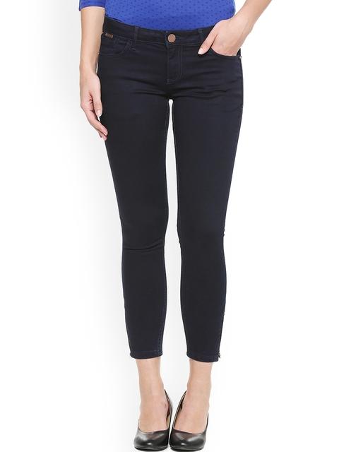 Van Heusen Woman Navy Blue Regular Fit Mid-Rise Clean Look Jeans