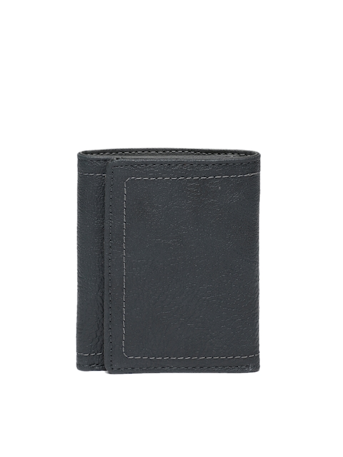 Baggit Men Black Textured Three Fold Wallet