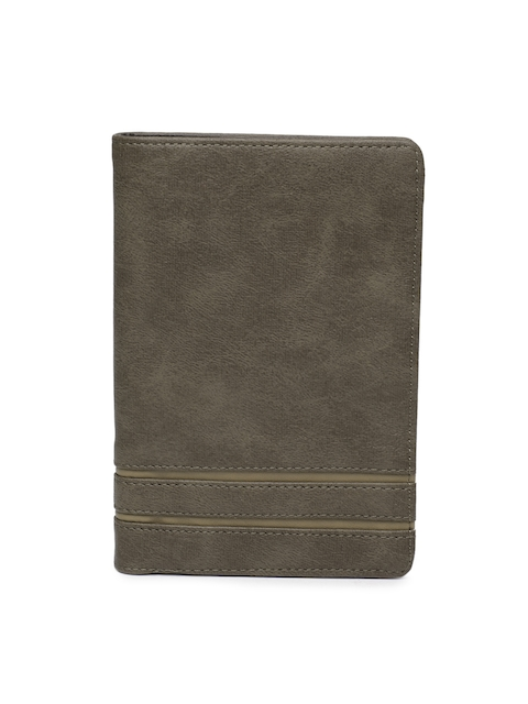 Baggit Men Brown Textured Two Fold Wallet