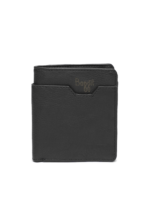 Baggit Men Black Textured Two Fold Wallet