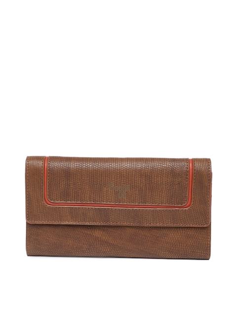 Baggit Women Tan Textured Two Fold Wallet
