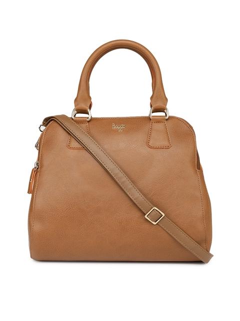 Baggit Tan Textured Handheld Bag