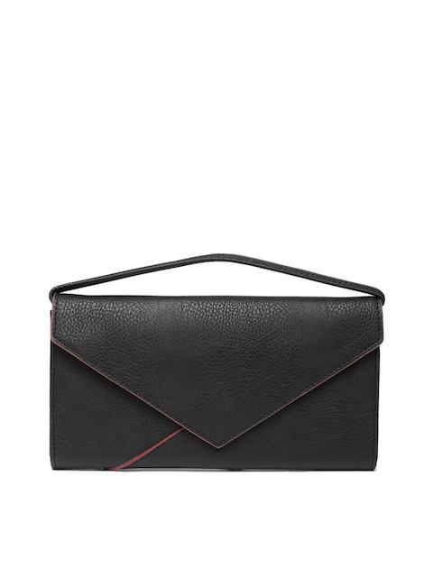 Baggit Women Black Textured Two Fold Wallet