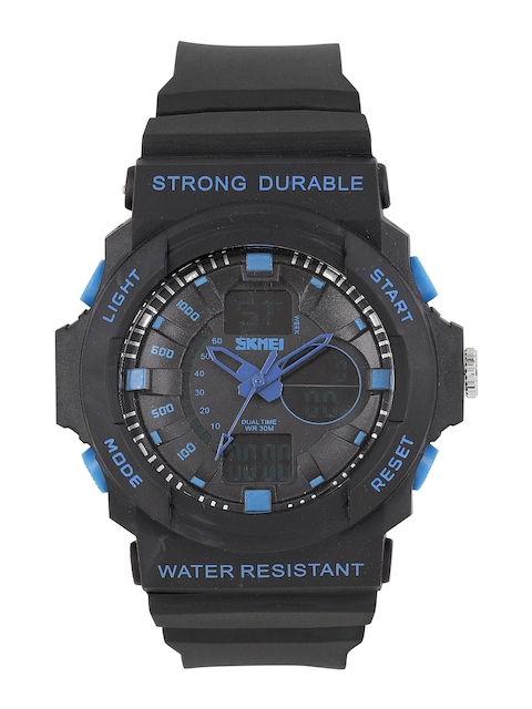 Skmei Men Blue & Black Analogue and Digital Watch 995-BL