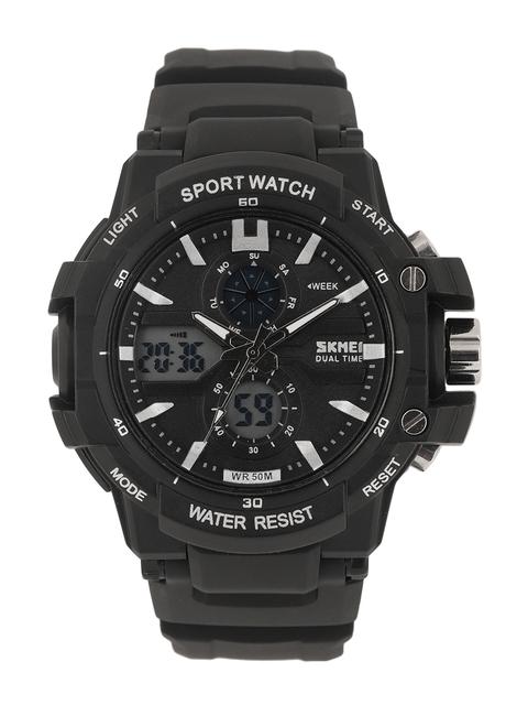 Skmei Men Black Analogue and Digital Watch 990-B_OR