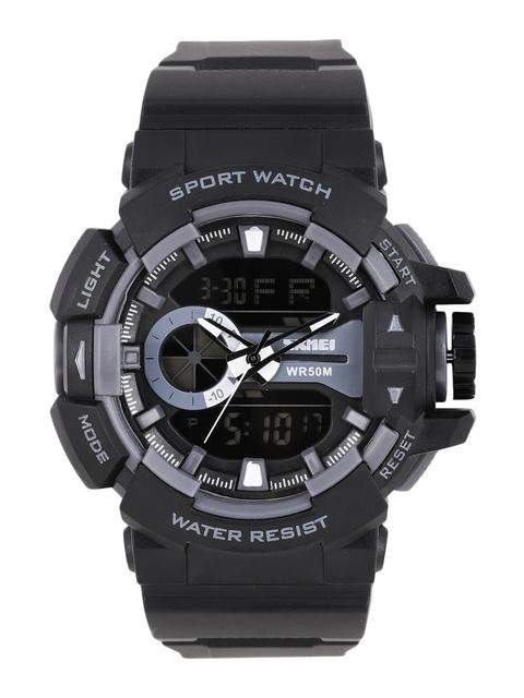 Skmei Men Black Analogue and Digital Watch 1117-BK