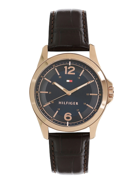 Tommy Hilfiger Men Blue & Gold-Toned Analogue Watch TH1791451