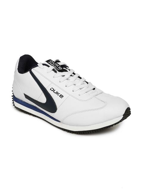 Duke Men White Walking Shoes
