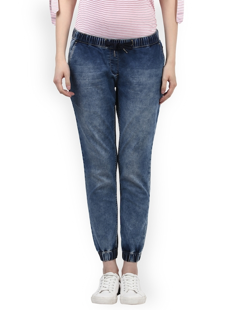 Park Avenue Woman Blue Regular Fit Mid-Rise Clean Look Stretchable Jeans