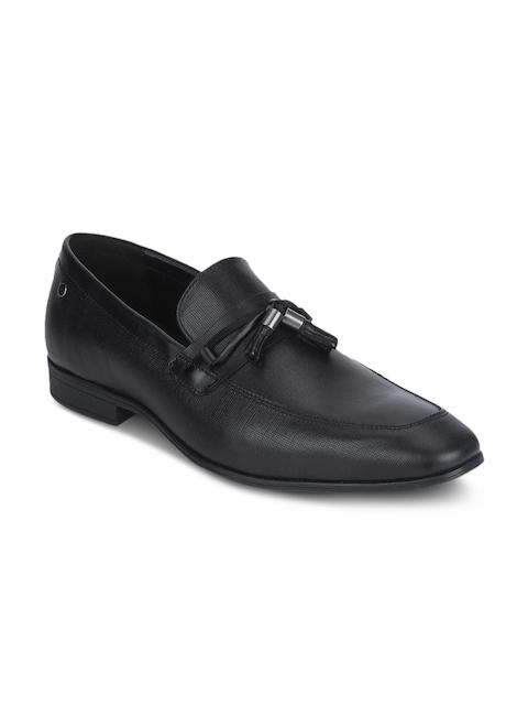 Red Tape Men Black Formal Leather Slip-On Shoes