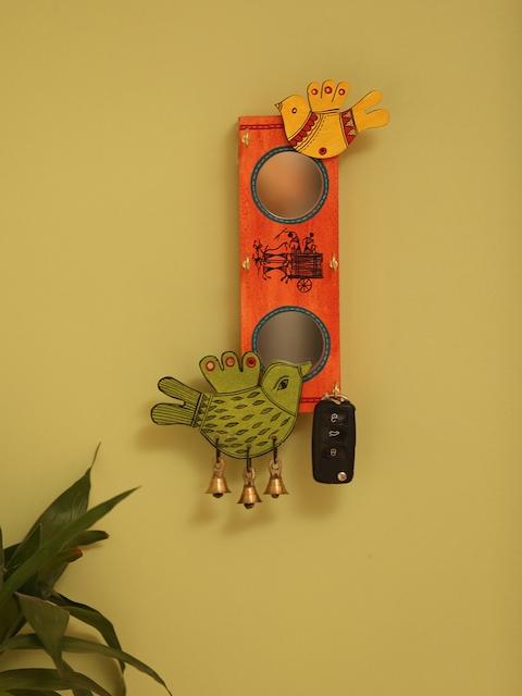 ExclusiveLane Orange Wooden Key Holder