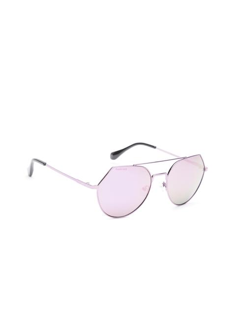Fastrack Women Mirrored Oval Sunglasses