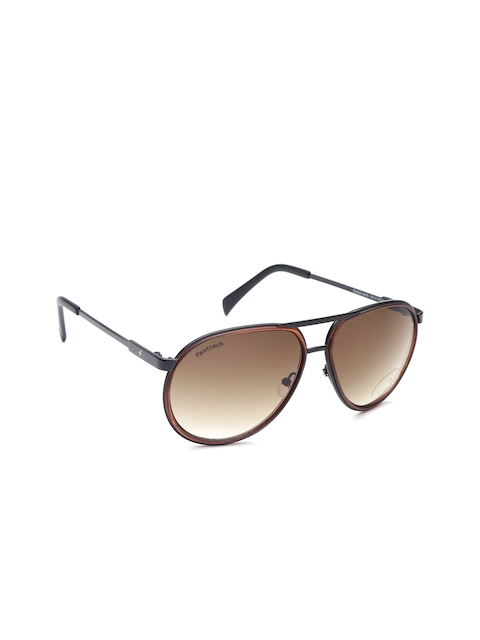 Fastrack Men Oval Sunglasses NBM141BR2
