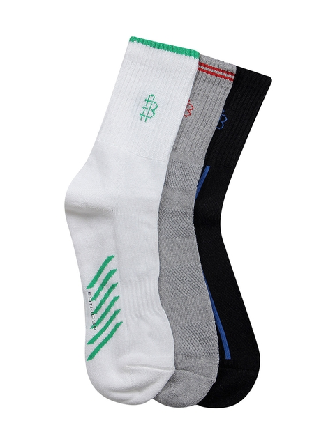 Bonjour Men Set of 3 Assorted Ankle-Length Socks