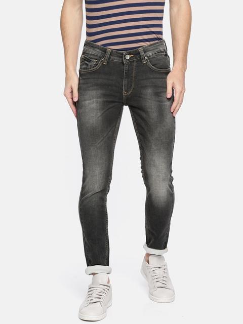 SPYKAR Men Black Super Skinny Fit Mid-Rise Clean Look Stretchable Jeans