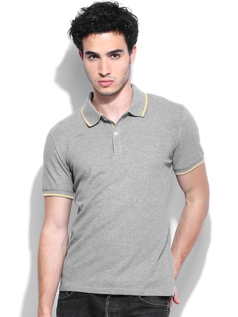 Celio Men Grey Melange Polo T-shirt  available at myntra for Rs.779
