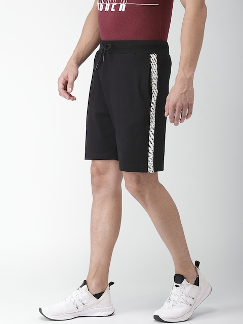Kappa Men Black Solid Regular Fit Sports Shorts