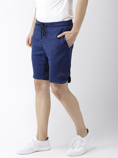 Kappa Men Blue Solid Regular Fit Regular Shorts