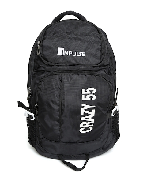 Impulse Unisex Black 45 Litres Rucksack