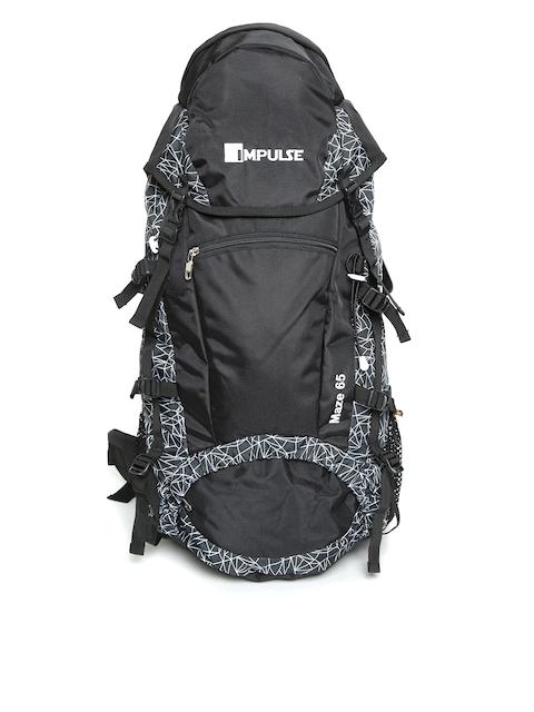 Impulse Unisex Black Maze 65 Litres Rucksack