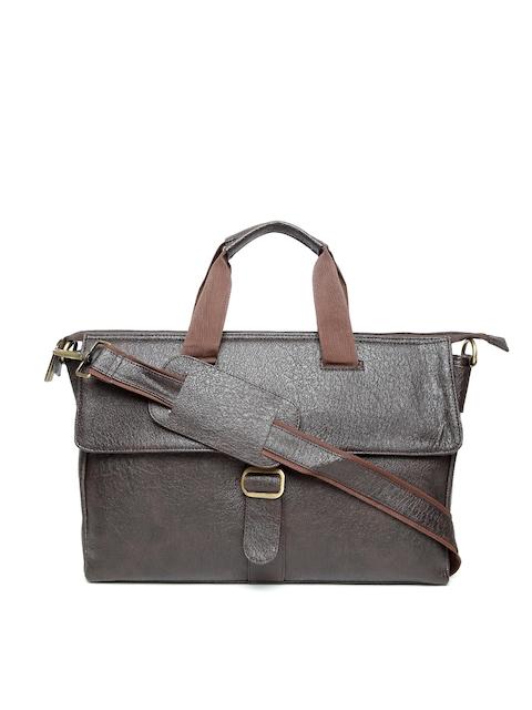 Impulse Unisex Coffee Brown Handcrafted Laptop Bag