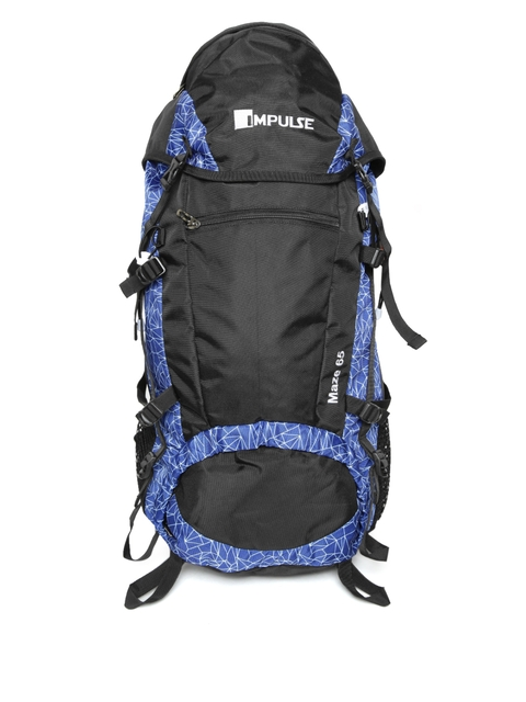 Impulse Unisex Blue & Black Maze 65 Litres Rucksack