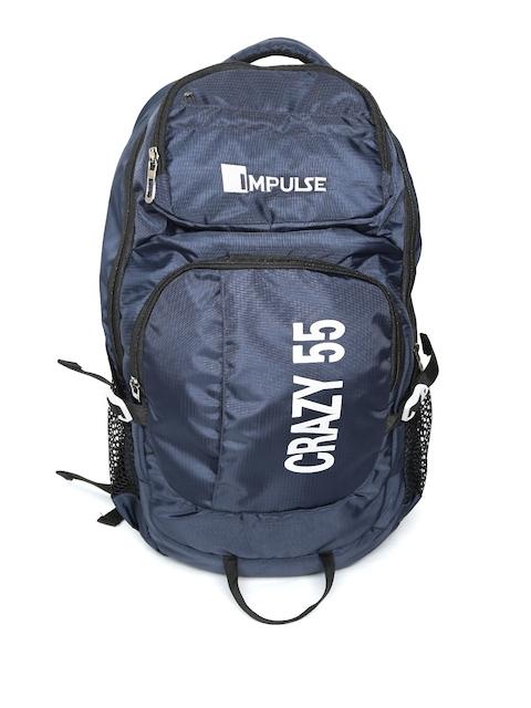Impulse Unisex Navy Blue Printed 45 Litres Rucksack
