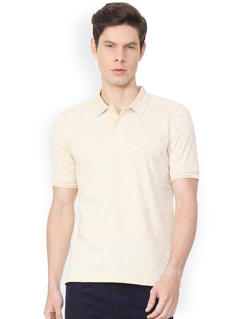 Van Heusen Sport Men Beige Printed Polo Collar T-shirt