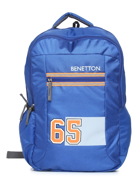 United Colors of Benetton Unisex Blue Graphic Backpack
