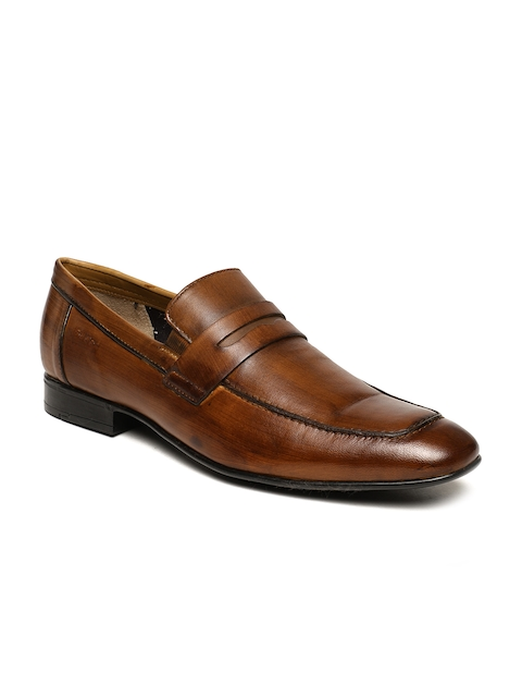Ruosh Men Tan AW17 LFS DROOG 2A Solid Slip-on Leather Formal Shoes