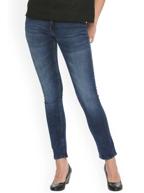 Van Heusen Woman Women Blue Regular Fit Mid-Rise Clean Look Stretchable Jeans
