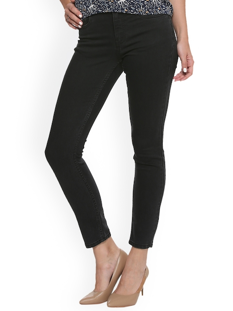 Van Heusen Woman Women Black Regular Fit Mid-Rise Clean Look Stretchable Jeans