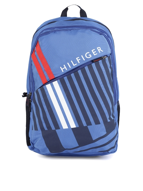 Tommy Hilfiger Unisex Blue Brand Logo Backpack