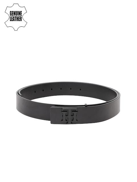 Tommy Hilfiger Men Black Solid Genuine Leather Belt