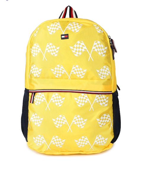 Tommy Hilfiger Unisex Yellow Graphic Backpack
