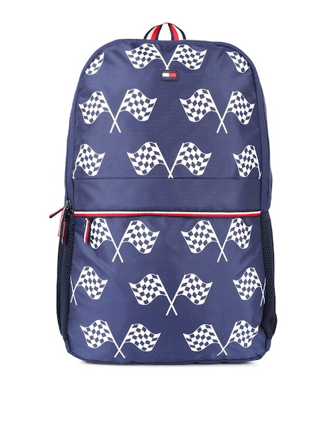 Tommy Hilfiger Unisex Blue Graphic Print Arches Backpack