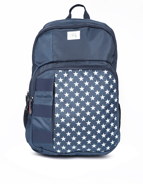 Tommy Hilfiger Unisex Navy & White Star Print Backpack