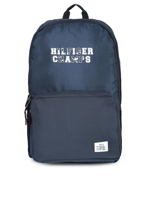 Tommy Hilfiger Unisex Navy Blue Brand Logo Backpack