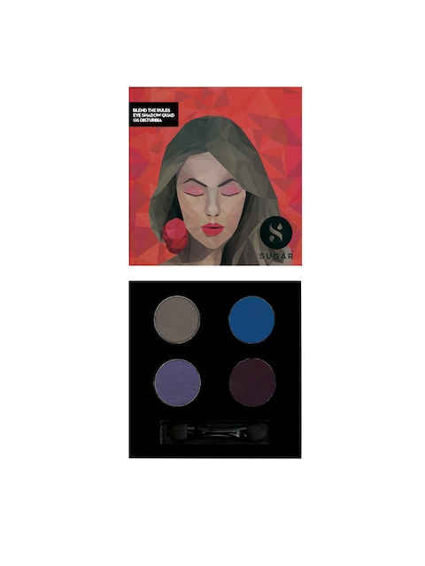 SUGAR Blend The Rules Eyeshadow Quad - 06 Disturbia 5 gm