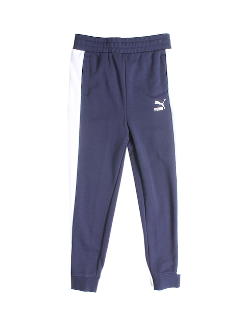 Puma Boys Blue Solid Joggers