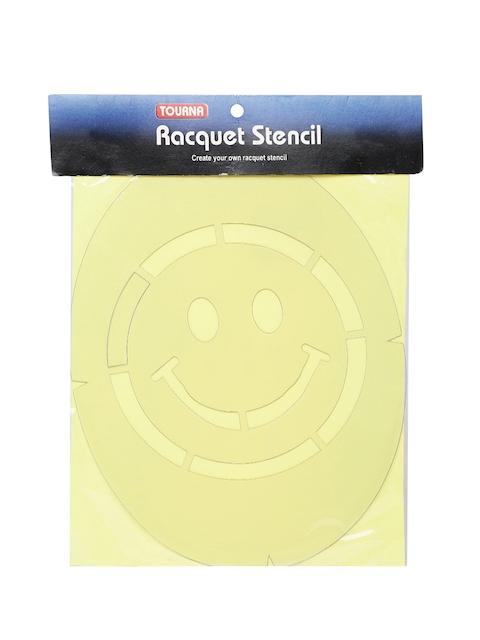 Tourna Unisex White Smiley Stencil