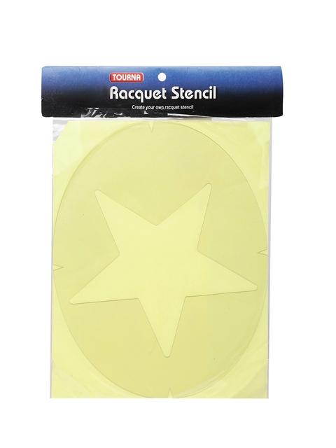 Tourna Unisex White Star Shaped Stencil