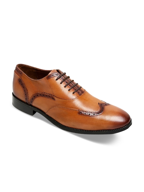 BRUNE Men Tan Formal Leather Brogues